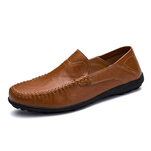 Brown da E Successg Men Summer Vera Mocassini Casual Confortevole Luxury Traspirante Uomo in Scarpe Red Mocassini Pelle pHHqw5aSx