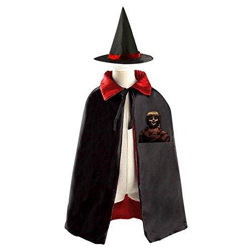 Annabelle Creation Halloween Magic Cosplay Costume Witch Wizard Cloak Cap Craze (Annabelle For Halloween)