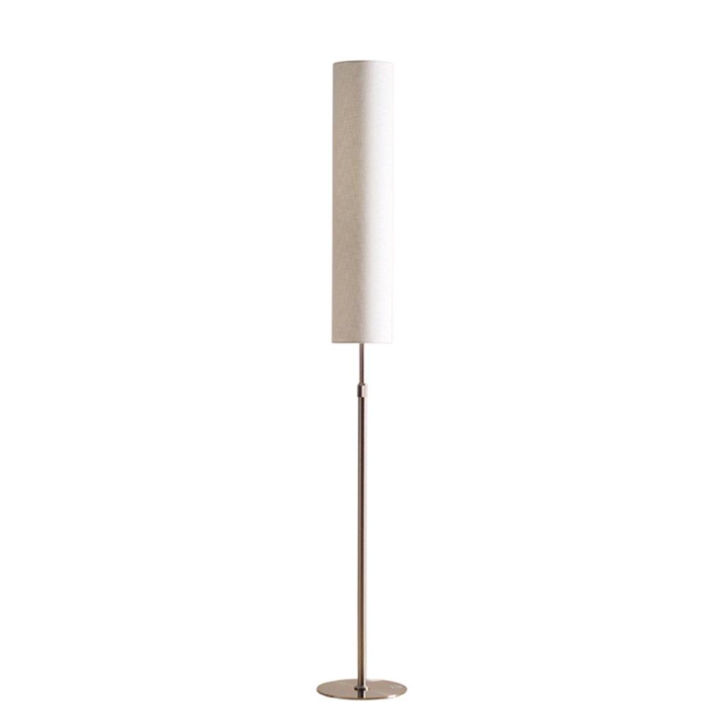 MMM- Stehlampe Schlafzimmer Wohnzimmer Studie Einfache vertikale Tischlampe Tuch Lampenschirm Eisen Lichtmast Einstellbare Höhe E27 Fußschalter Stehlampe (Farbe : #1)