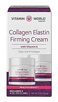 Collagen Elastin Firming Cream With Vitamin E 2 4 oz. (113 G) Jars
