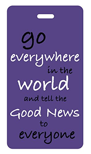Luggage Tag Christian Theme (Grape) Go Everywhere/good News (Theme Luggage Tag)