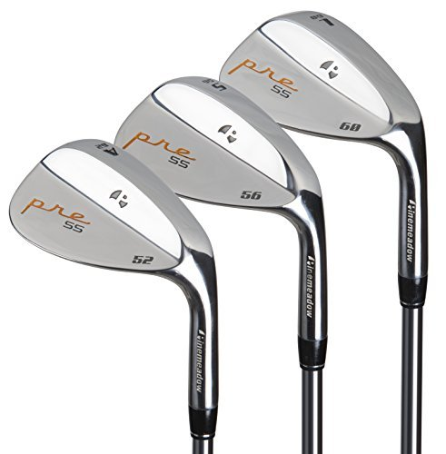 Pinemeadow Pre 3 Wedge Pack (Right-Handed, Steel, Regular, 52/56/60-Degrees)