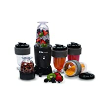 MaxiMatic EPB-1800 Elite Cuisine 17-Piece Personal Drink Blender, Black
