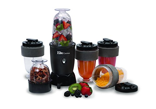 MaxiMatic EPB-1800 Elite Cuisine 300-Watt 17-Piece Personal Drink Blender - BPA Free, Black (Juice Mixer)