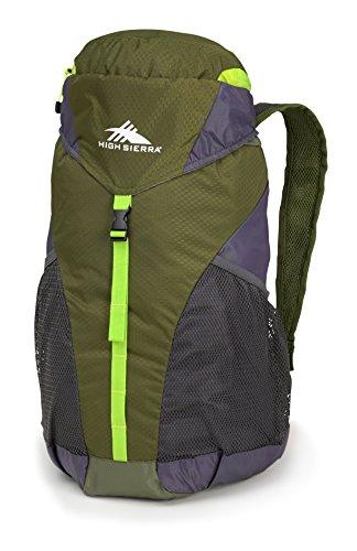 High Sierra Pack-N-Go 2 20L Sport Backpack, Moss/Mercury/Cha