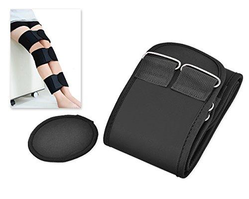 Bow Leg - Ace Select 3 Pieces Adjustable Leg Correction Band for O Type Leg and X Type Leg - Black - X-Large