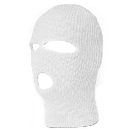 TopHeadwears Hole Face Mask White