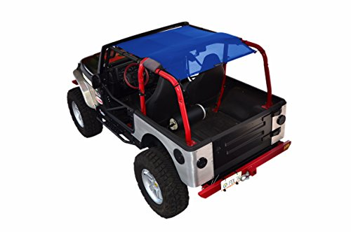 Eclipse Sunshade (SPIDERWEBSHADE Jeep Wrangler Mesh Shade Top Sunshade UV Protection Accessory USA Made with 5 Year Warranty for Your TJ (1997-2006) in Blue)