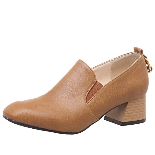 Show Shine Womens Casual Bungees Chunky Hielslip Loafers Schoenen Geel