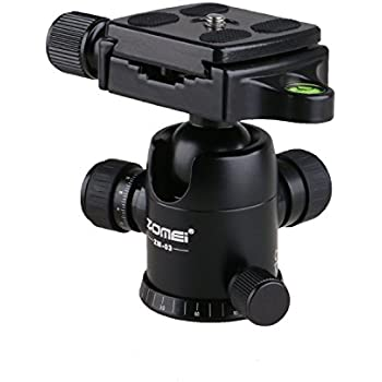 ZOMEi ZM-03 Photography Tripod Ball Head (Updated Version) Ballhead+Quick Release Plate Pro Camera Tripod Max to 8KG