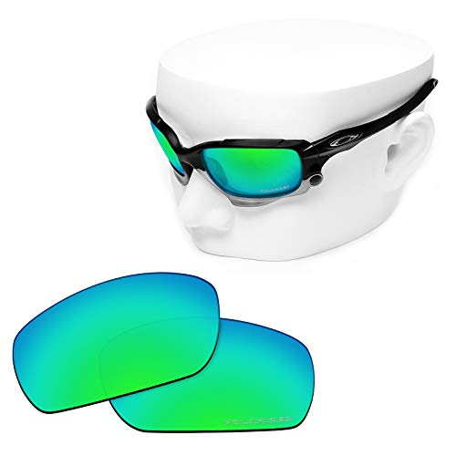 Jawbone Replacement - OOWLIT Replacement Sunglass Lenses for Oakley Jawbone/Racing Jacket Emerald Combine8 Polarized