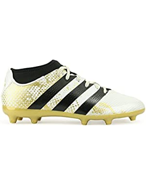 Kids ACE 16.3 Primemesh FG/AG White/Core Black/Gold Metalic Soccer Shoes