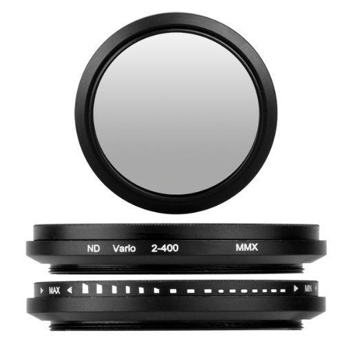 BlueBeach® 58mm High Quality Adjustable ND Neutral Density fader Lens filter ND2-ND400 for Canon Nikon Sony Pentax Panasonic Fuji JVC Kodak DSLR Digital Camera filter-nd-4