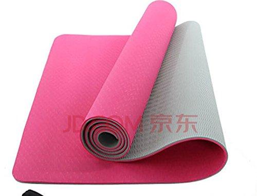 YOOMAT Zweifarben Anti-Slip-TPE-Eco Yoga Matte und 80 cm Breiten Sport Mat Männer und Home Übungen und Tanz.