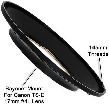 MC-CPL Kit Compatible with Canon 17mm TS-E Super Wide Tilt//Shift f//4L Lens WonderPana FreeArc 145mm Multi-Coated CPL