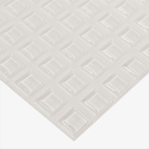 범퍼, 정사각형 (BP920) - 1 장의 242 범퍼 .100 Thk X .400 Sq/Bumpers, Square (BP920) - 1 Sheet of 242 Bumpers .100  Thk X .400  Sq