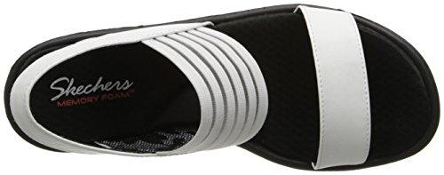 White Sandali Skechers Caviglia Cinturino Donna alla Fi Sci Rumbers con qqxzOtF