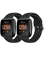Runostrich Sportrem kompatibel med Fitbit Versa 2/Fitbit Versa/Versa Lite/SE, mjukt silikonband ersättning andningsbart armband tillbehör för smart fitnessklocka för kvinnor män