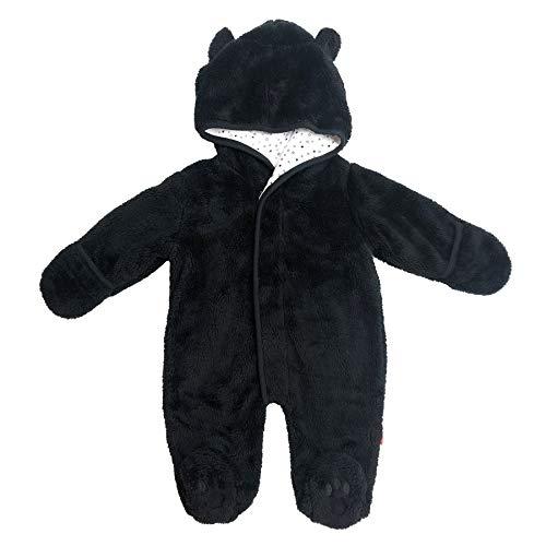 Magnetic Me So Soft Minky Fleece Magnetic Snowsuit Bunting Pram Jet Black -