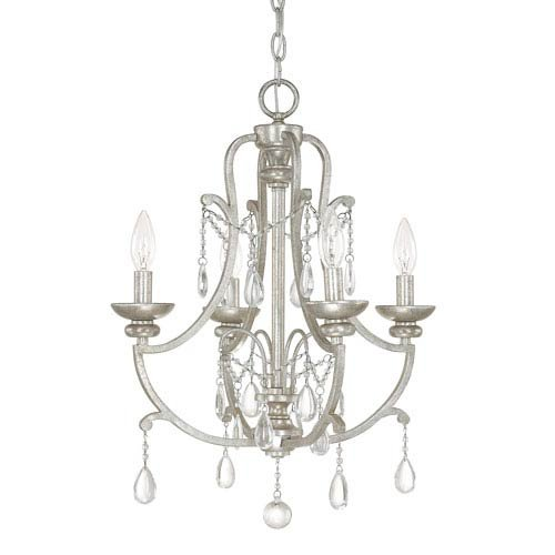 Capital Lighting 4801AS-CR Four Light Mini Chandelier