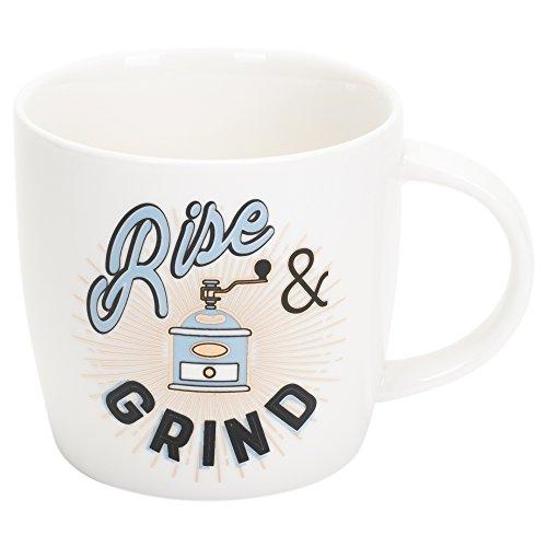 Rise and Grind Sunburst 20 Ounce Oversized Ceramic Coffee Mug ()