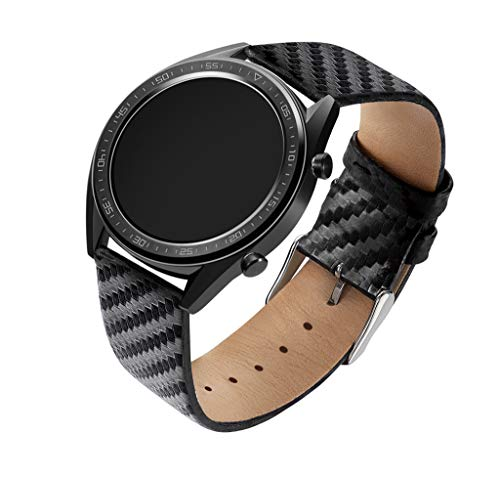 - Sodoop Band Compatible for Huawei Watch GT Deluxe, Classic Black Carbon Fiber Parts Replacement Strap,Waterproof Breathable Wristbands Strap for Huawei Watch GT Deluxe