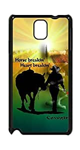Cowgirl With Horse Case - Samsung Galaxy Note 3 VA.1 Horse Breakin Case Cover - Black Case - AArt