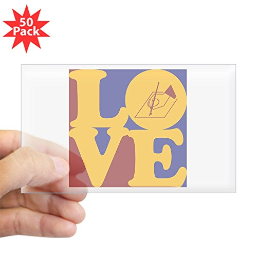 CafePress - Writing Love Rectangle Sticker 50 Pk - Sticker (Rectangle 50 pk)