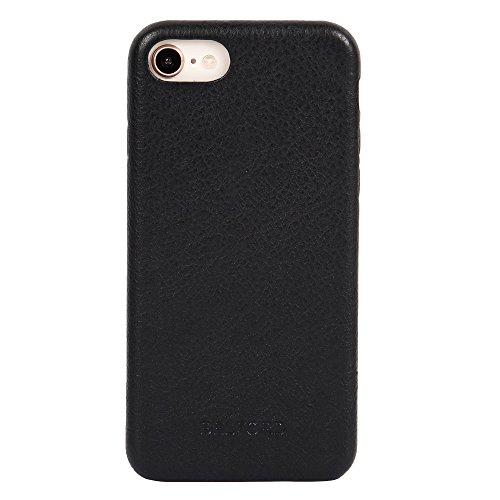 Top Grain Italian Leather iPhone 8 Cover Case Black iPhone 8 iPhone 7 Leather Case Durable Cover Protective Premium Microfiber Lining Slim Fit Hard Back Cover Case iPhone 7 Leather Cases - BELFORD