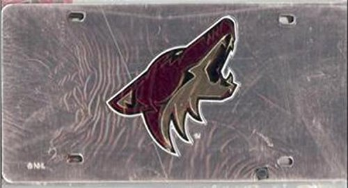 - Rico Industries Phoenix Coyotes (Silver) Laser License Plate