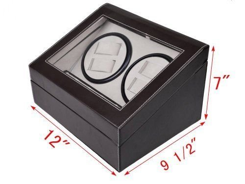 - Generic YH-US3-160519-465 8yh3548yh x Black Brown Watch Winder age Case Di Leather Automatic Leather A Storage Case 4+6 Watc Rotation 4+6 matic Rot Display Box Black Brown