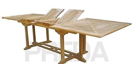 Preda s.r.l. Mesa Extensible de Madera Teca - 300 cm: Amazon.es: Hogar