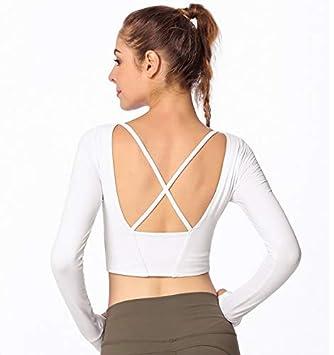 Psanfeng Camisas y Camisetas Desgaste de Yoga de Manga Larga ...