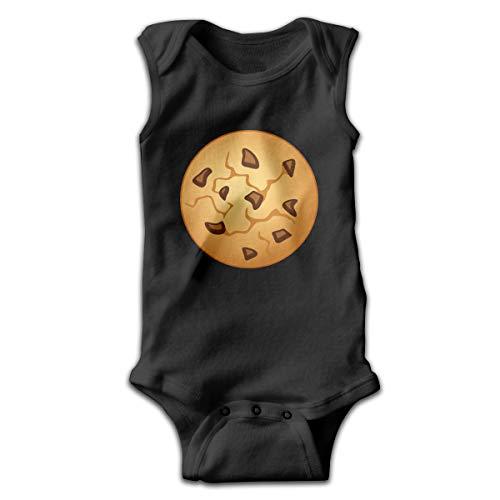 Address Verb Baby Sleeveless Bodysuits Biscuits Cookies Unisex Cute Lap Shoulder Onesies Black -