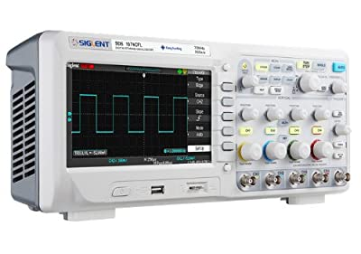 "Siglent SDS1104CFL 7"" Colored TFT LCD Bench-Top Oscilloscope, 70Mhz-300Mhz, 4 Channels"