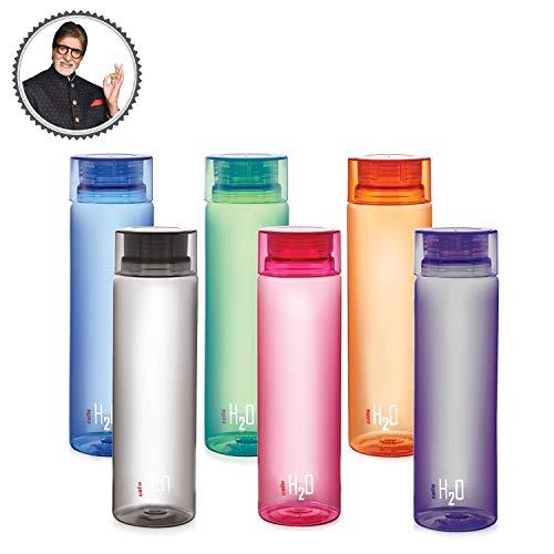 - Cello H2O Unbreakable Bottle , 1 Litre, Set of 6,