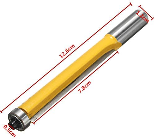 NEW 1//2 Inch Shank Bearing Extension Trimming Router Bit Straight Woodworking