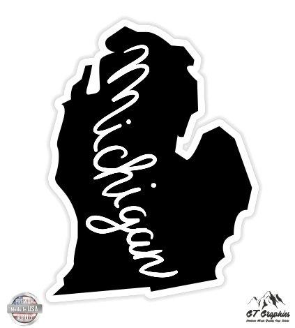 - GT Graphics Michigan State Shape - 3