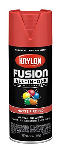 (Krylon K02756007 Fusion All-in-One Spray Paint, Fire Red)