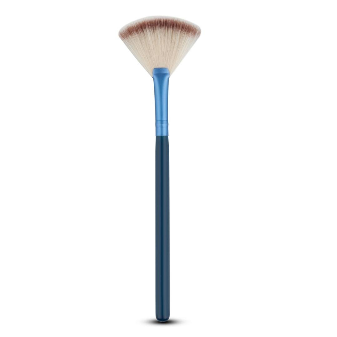 BESSKY 1Pc Fan Brush Portable Slim Professional Makeup Highlighting Brush (E) BESSKY07125