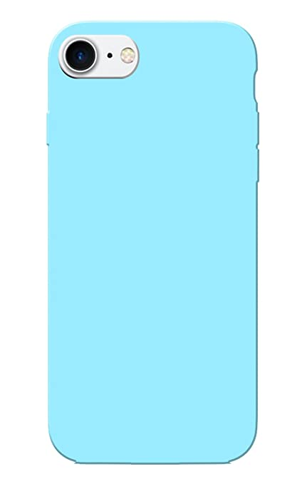 the best attitude fff98 3e617 iPhone 7 Case, Plain Sky Blue Slim Fit Hard Case Cover: Amazon.in ...