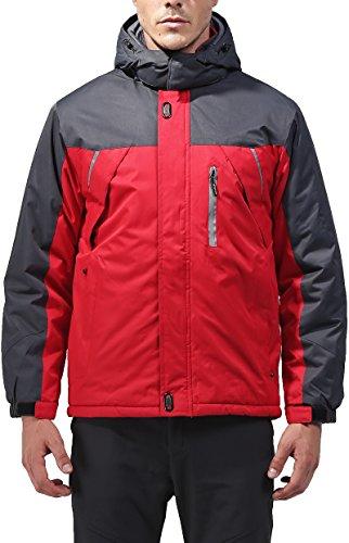 Field Shell Snowboard Pant (Vcansion Men's Outdoor Waterproof Mountain Jacket Fleece Windproof Ski Jacket Red XL)