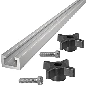 "48"" ALUMINUM T-TRACK WITH TWO FREE KNOBS AND BOLTS by"