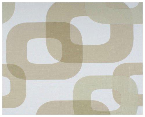 Livingwalls Tapete Lars Contzen, Mustertapete, retro, stylisch, modern, beige, weiß, 623140
