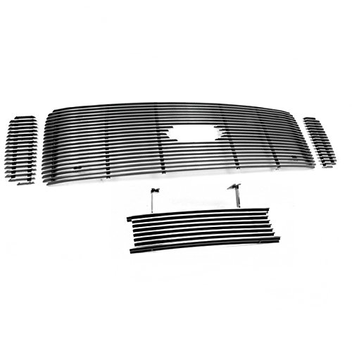ZMAUTOPARTS F250 F350 F450 F550 Front Upper+Bumper Center Billet Grille Grill Logo Cut