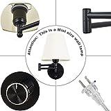 "Swing Arm Wall Lamp 7.1"" Shade Width Plug in Wall"