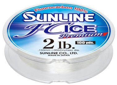 Sunline 63042332 FC Ice Premium Clear 2 LB Fishing Line, Clear, 100 yd