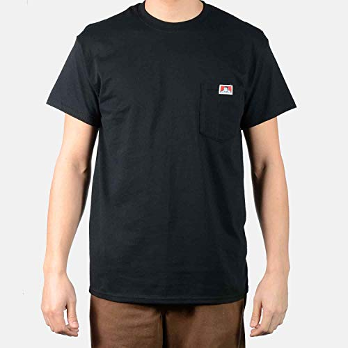 Ben Davis Men's Short Sleeve Heavyweight Pocket T-Shirt (Black, 3X-Large) ()