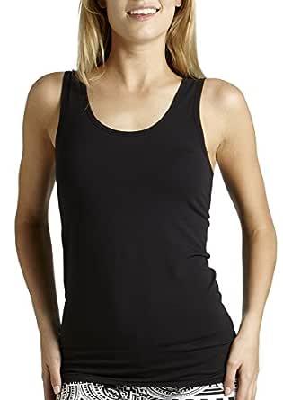 Bonds Women's Underwear Cotton Blend Stretchy Chesty Singlet, Black, 10