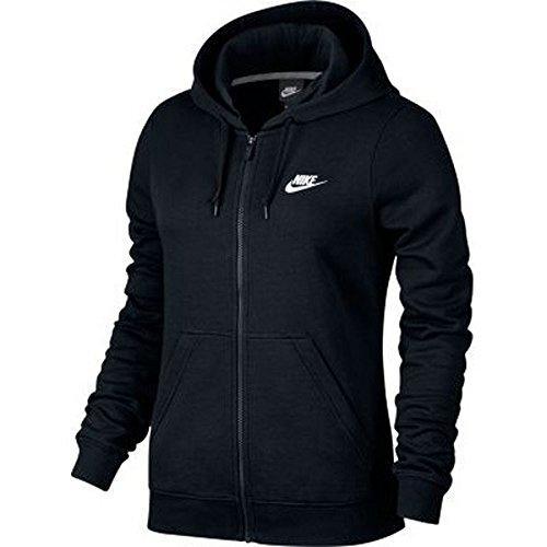 Nike Women's Sportswear Hoodie Black/Black/White Medium